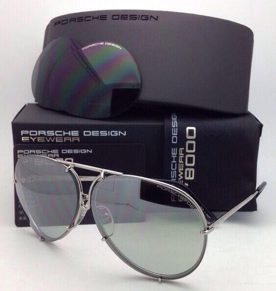 e351023c5c6 Eyeglasses Porsche Design P8478 B 6910 Silver Lens Grey Mirrored SF Green  for sale online