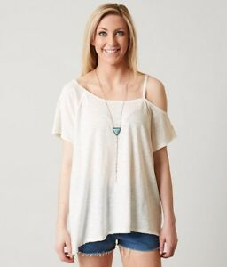 741479f1e7956e We the free Free People women Small white Coraline one cold shoulder ...