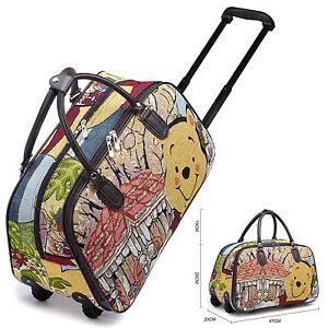 Image Is Loading Disney Winnie Pooh Amp Vintage Holdall Trolley Bag