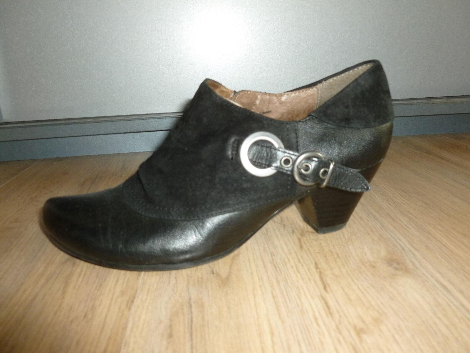 Paumps Schuhe schwarz Leder Caprice Caprice Leder 37,5 4,5 b44745