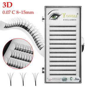 182847f8aa1 3D Premade Volume Lash Fan 0.07 Thickness C Curl Individual Eyelash ...