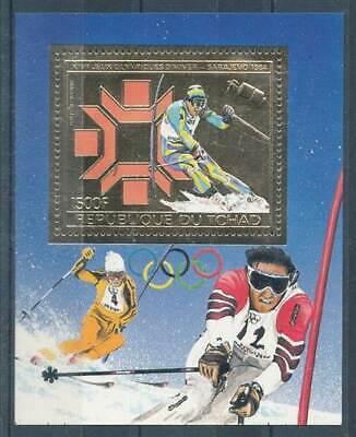 Olympische Spiele Logisch 219366 Tschad Block 161a** Olympiade üBerlegene Materialien Motive