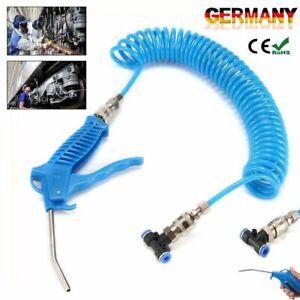 Ausblaspistole Set Druckluftschlauch Spiralschlauch Druckluftpistole Werkzeug