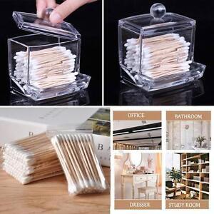 Support-acrylique-boite-coton-ouates-Stick-Storage-Case-120Pc-coton-tige-EP