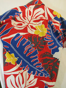 80s-Vintage-Norfleet-Hawaiian-Shirt-Size-L-Short-Sleeve-100-Cotton-Made-in-USA