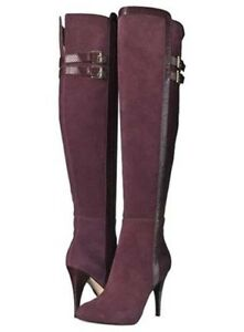 new photos another chance best selection of Details about Michael Kors Delaney Over The Knee Plum Boots.New in Box Size  6.