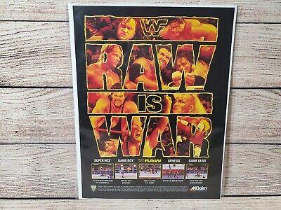 Wwf Raw Sega Genesis Super Nintendo Snes Promo Magazine Art Ad Print Poster Ebay