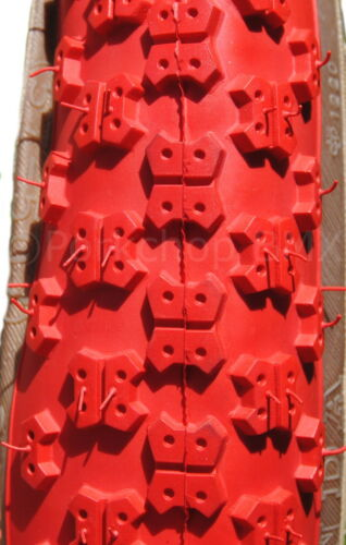 """PAIR RED Kenda Comp 3 old school BMX skinwall gumwall tires 24/"""" STAGGERED"""