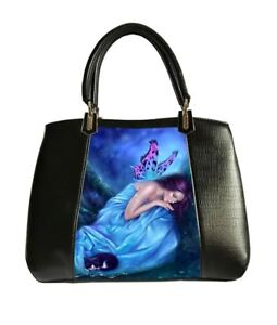 Ladies Vegan 3D Fashions Gothic Bag Fantasy Black Serenity Caszmy Hand qFB6W