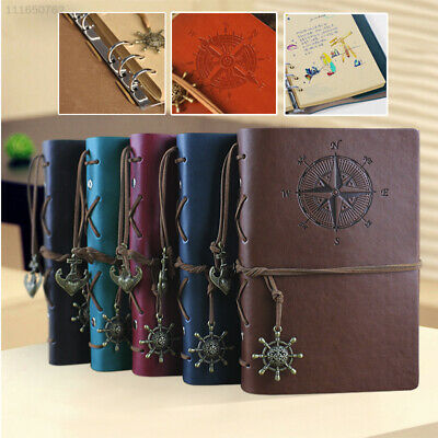 6A7A A6 Loose Leaf Retro Leather Journals Simple Diary Planner Pocket Notebook