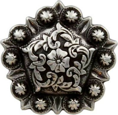 """CONCHOS LOT OF 6 PCS WINDROSE STAR RANGER ANTIQUE SILVER LEATHER CRAFT 1 1//2 /"""""""