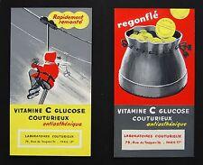 3 GOUACHES PUBLICITAIRES 1960 vitamine C laboratoires Couturieux Toniphos