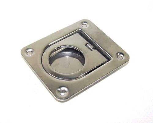 Boat Flush Lifting Deck Hatch Cover Handle SS SPRING LOADED FLUSH RING PULL