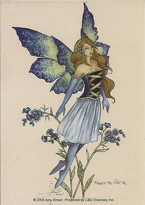 """AMY BROWN FAIRY FAERY STICKER DECAL """"FORGET ME NOT 2"""" FROM 2005"""