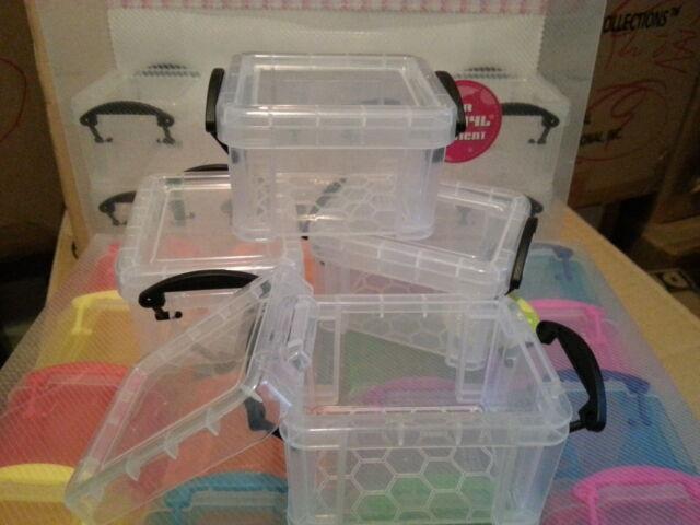 Cutie Transparent Mini Plastic Storage Box Container Set (E) of 4 pcs