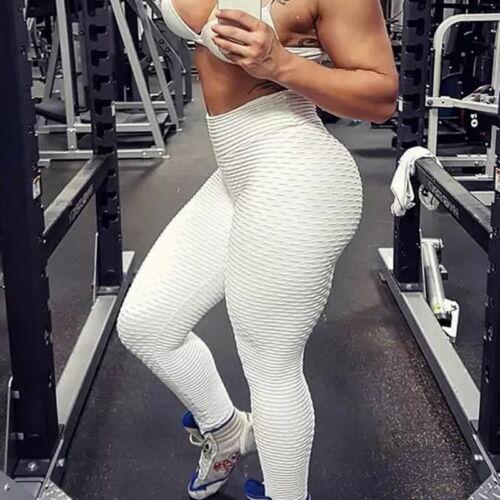 Women Skinny Anti-Cellulite Yoga Leggings Gym Sport Butt Lift Walking Pants US