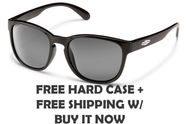 9e5629f735dae Suncloud Loveseat Sunglasses - Black With Grey Polarized Lenses - Free Hard  Case