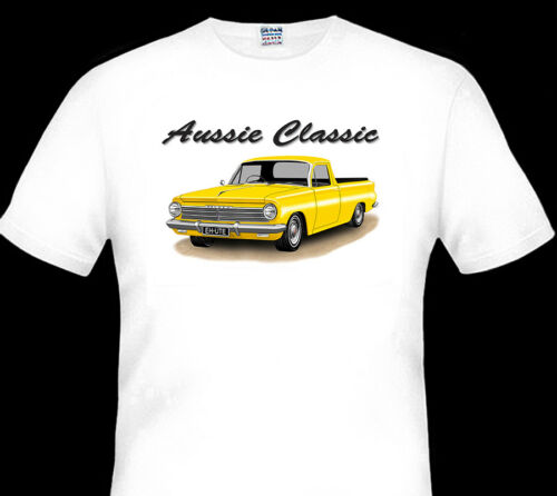 10 CAR COLOURS 1963 1964  EH HOLDEN  UTE  QUALITY WHITE TSHIRT BIG FIT