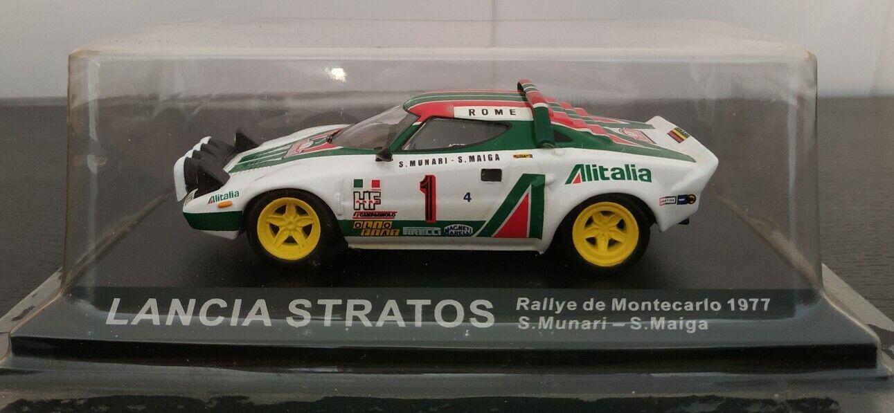 1 43 lancia stratos rallye montecarlo 1977 s. s. munari maiga ixo altaya scale