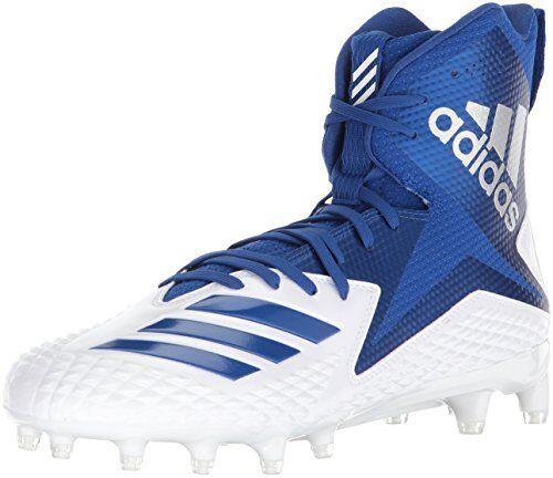 Adidas Men's Freak X Carbon Mid Football shoes, White Collegiate Royal, 12.5 M US