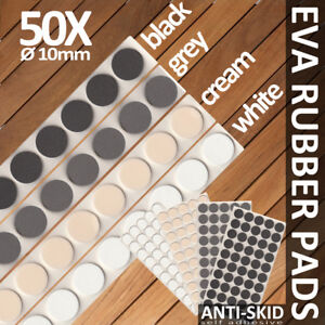 50x Eva Rubber Pads Glass Cushion Self Adhesive Door