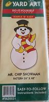 1998 Yard Art Mr Chip Snowman Christmas Wood Do It Yourself Pattern 24 X 48