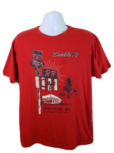 Official Lootwear Twin Peaks Double R TV Show Red
