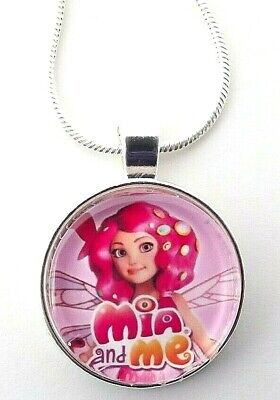 PRINCESS JASMINE DOME SILVER CLASP NECKLACE 16 inch GIFT BOX PARTY BIRTHDAY GIFT