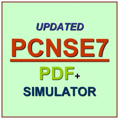 Palo Alto Networks Certified Network Security Test PCNSE7 Exam QA PDF+Simulator