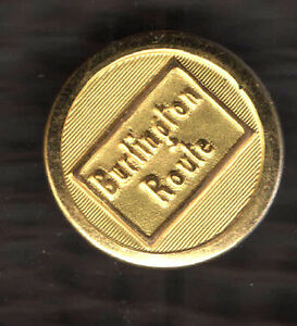 1-Only-ONE-Single-RAILROAD-pr-old-Cufflink-BURLINGTON-Route