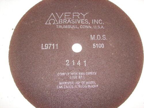 "AVERY ABRASIVES L9771 12-3//8/"" X 1//8/"" /& 1/"" BORE CUT OFF WHEEL ***NIB***"