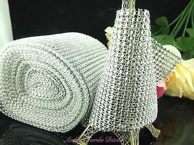 Crystal Mesh Wrap Roll Sewing Rhinestone Diamond Effect for Wedding,Craft,Decor