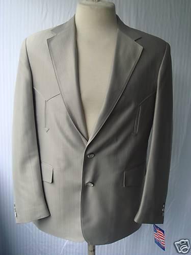 42R 34W New  Herren Western Wear Suit Celery Swedish Warp