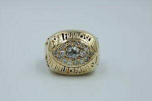 1981-San-Francisco-49-039-ers-Super-Bowl-XVI-Championship-Ring-on-10K-Yellow-Gold