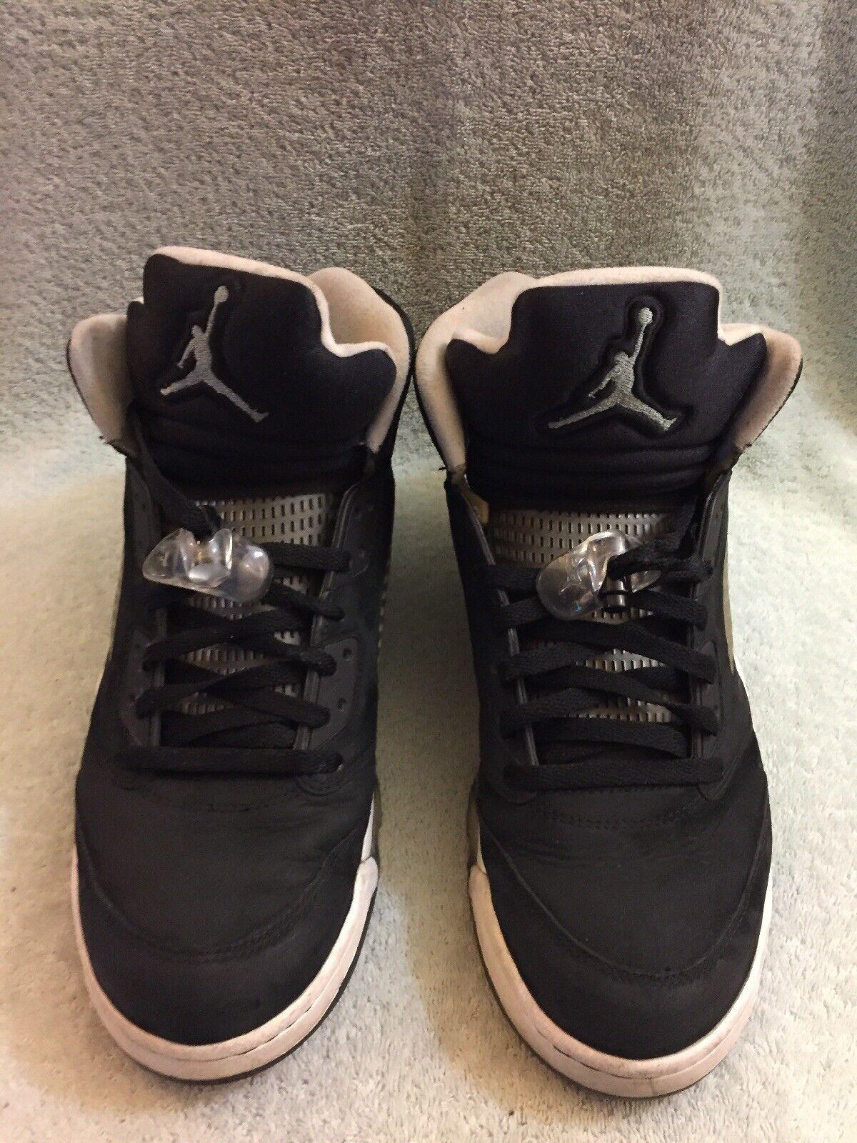 Jordan 5 Retro Oreo 136027-035 Negro gris Frío blancoo Hombre