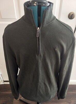 NWT New Izod Mens Spectator Fleece 1//4 Zip Long Sleeve Pullover Sweater Jacket