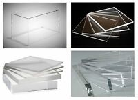 Clear Cast Acrylic Plexiglass Plastic High Density Sheet 1/4 X 36 X 48 (.250)