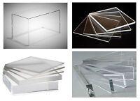 Clear Cast Acrylic Plexiglass Plastic High Density Sheet 1/4 X 36 X 48 (.250)