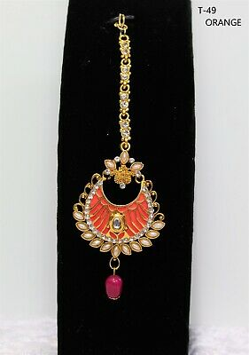 INDIAN BOLLYWOOD MANG TIKKA HAIR HEAD PIECE JEWELLERY WEDDING PARTY women bindi