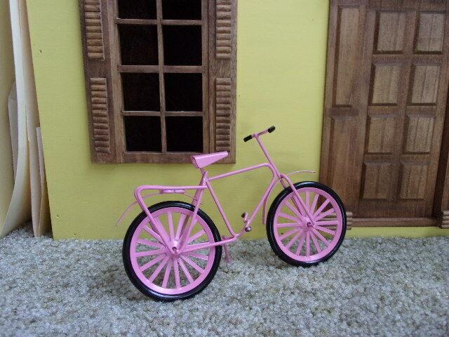 1:12 Dollhouse Miniature kid bicycle pink