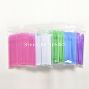 200Pc-Lot-Lint-Disposable-Makeup-Brushes-Eyelash-Extension-Individual-Swab-brush