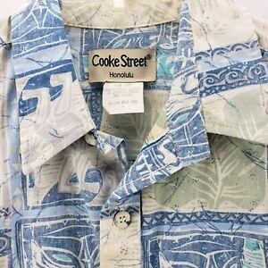 Hawaiian-Tiki-Tropical-Aloha-Hawaiian-Islands-Floral-Camp-Shirt-Cooke-Street-L