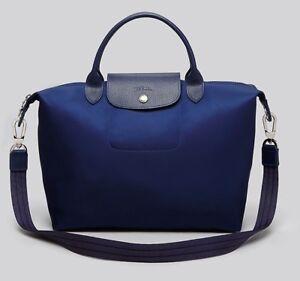 NEW Longchamp Le Pliage Neo Medium Travel Nylon Crossbody Bag NAVY ... 152a73100eb85