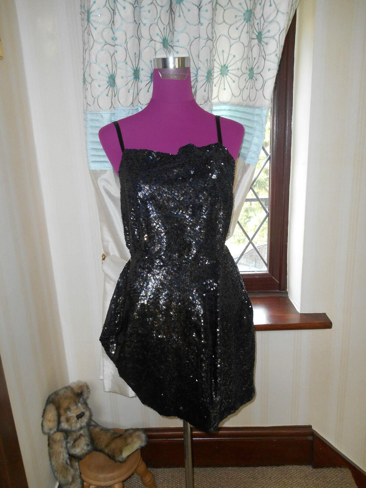 Stunning  All Saints Velutina Strap Sequin Dress Größe 10 BNWOT