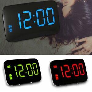 Grande Pantalla Despertador Digital Repetición Alarma Reloj Voz Control Vez Home