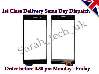 New Sony Xperia Z3 D6603 D6643 D6653 Touch Screen Digitizer Glass Lens Black