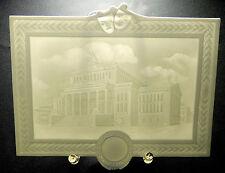 PMP SCHIERHOLZ PLAUE Porzellanbild LITHOPHANIE Porzellanplatte STAATSOPER BERLIN