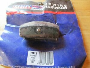 TB12-Sealey-Black-Number-Plate-Light-12V-With-Bulb