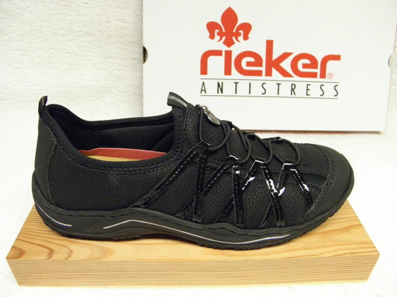 rieker ®  ROTUZIERT  schwarz   superbequem Top Preis  L0559-00 (R2)