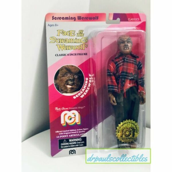 """Mego Horror Classics Screaming Werewolf Red Shirt Action Figure 8/"""""""